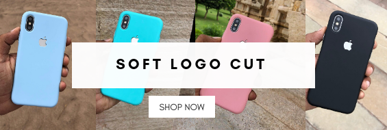 Soft Logo Cut Case For iPhone