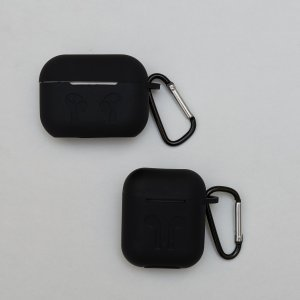 Soft Silicon Protective Carrying Case / Cover For Apple Airpods Headsets -  Black