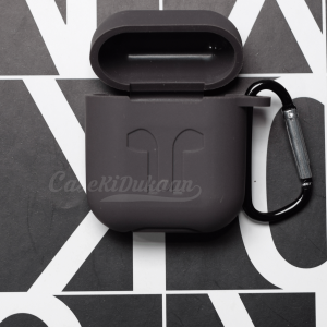 Soft Silicon Protective Carrying Case / Cover For Apple Airpods Headsets -  Coffee Gray