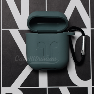 Soft Silicon Protective Carrying Case / Cover For Apple Airpods Headsets -  Midnight Green