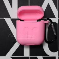 Soft Silicon Protective Carrying Case / Cover For Apple Airpods Headsets - Pink