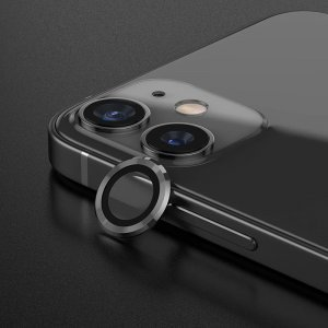 Metal Ring Camera Lens Screen Protector Tempered Glass for iPhone Graphite - Set of 2/3