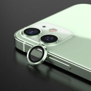 Metal Ring Camera Lens Screen Protector Tempered Glass for iPhone Mint Green - Set of 2/3