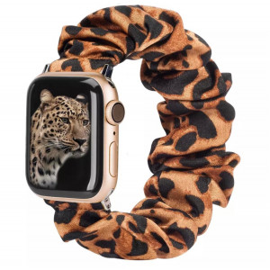 Girly Cloth Yellow Black Pattern iWatch Scrunchies Strap Compatible with Watch Series Se/6/5/4/3/2/1