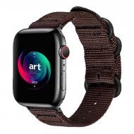 Nylon Strap Dark Brown Color Compatible with iWatch Series Se/6/5/4/3/2/1