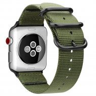 Nylon Strap Green Color Compatible with iWatch Series Se/6/5/4/3/2/1