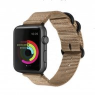 Nylon Strap Light Brown Color Compatible with iWatch Series Se/6/5/4/3/2/1