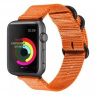 Nylon Strap Orange Color Compatible with iWatch Series Se/6/5/4/3/2/1