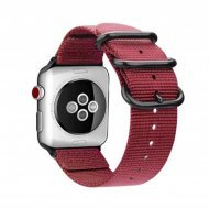 Nylon Strap Red Color Compatible with iWatch Series Se/6/5/4/3/2/1
