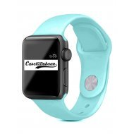Aqua Green iWatch Silicone Strap Compatible with Watch Series Se/6/5/4/3/2/1