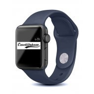 Navy Blue iWatch Silicone Strap Compatible with Watch Series Se/6/5/4/3/2/1