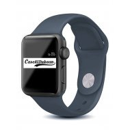 Dark Grey iWatch Silicone Strap Compatible with Watch Series Se/6/5/4/3/2/1