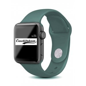 Midnight Green iWatch Silicone Strap Compatible with Watch Series Se/6/5/4/3/2/1