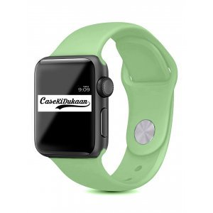 Mint Green iWatch Silicone Strap Compatible with Watch Series Se/6/5/4/3/2/1