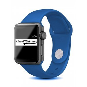 Olympic Blue iWatch Silicone Strap Compatible with Watch Series Se/6/5/4/3/2/1