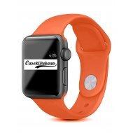 Nova Orange iWatch Silicone Strap Compatible with Watch Series Se/6/5/4/3/2/1