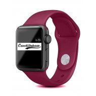 Wine Red iWatch Silicone Strap Compatible with Watch Series Se/6/5/4/3/2/1