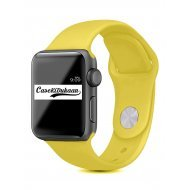 Summer Yellow iWatch Silicone Strap Compatible with Watch Series Se/6/5/4/3/2/1