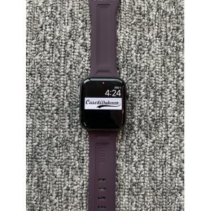 Wine iWatch Silicone Strap With Metal Lock Compatible with Series Se/6/5/4/3/2/1
