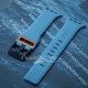Blue Orange iWatch Silicone Strap With Metal Lock Compatible with Series Se/6/5/4/3/2/1