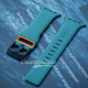 Green Orange iWatch Silicone Strap With Metal Lock Compatible with Series Se/6/5/4/3/2/1