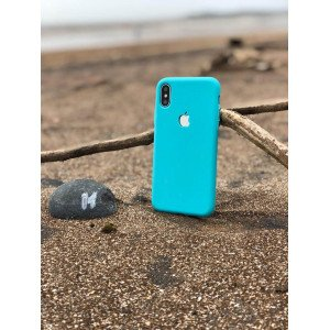 Cool Mint Soft Logo Cut For iPhone