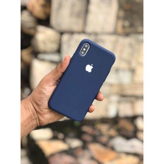 Midnight Blue Soft Logo Cut For iPhone