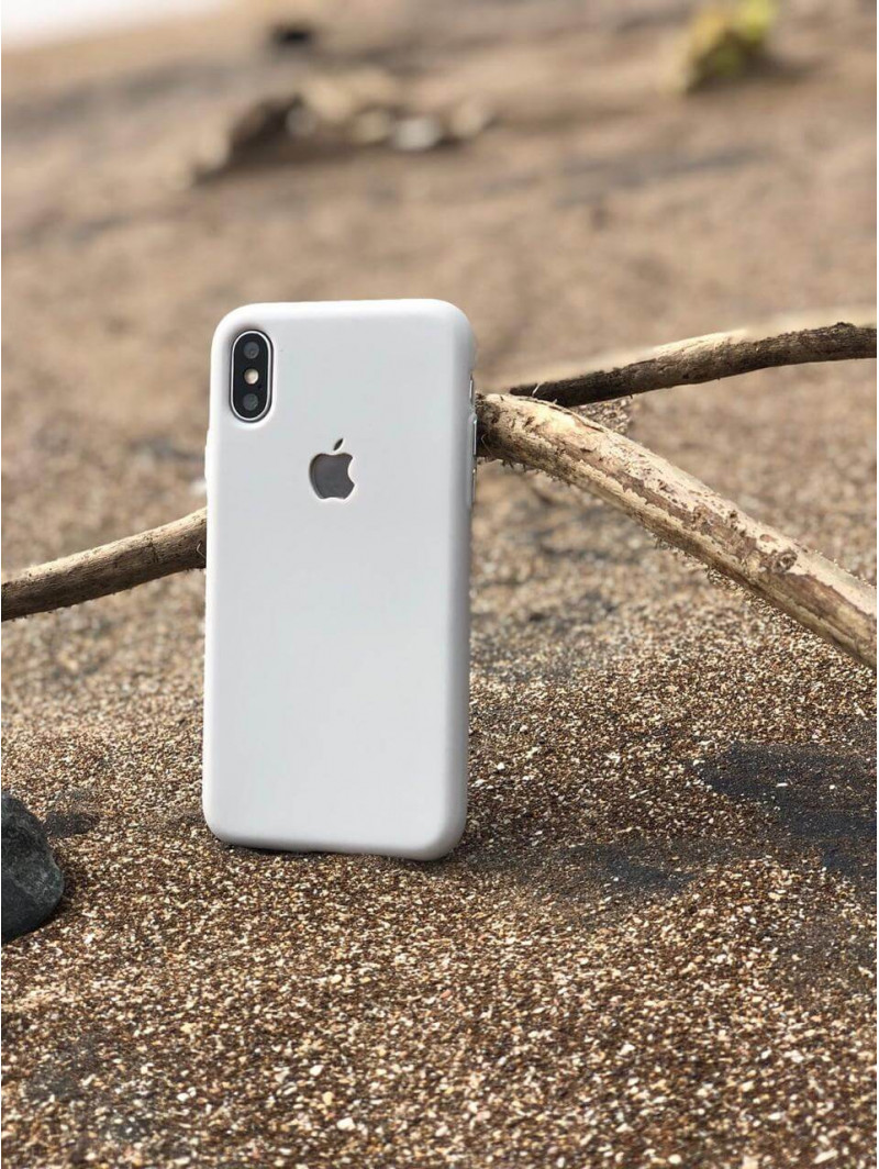 Antique White Soft Logo Cut For iPhone