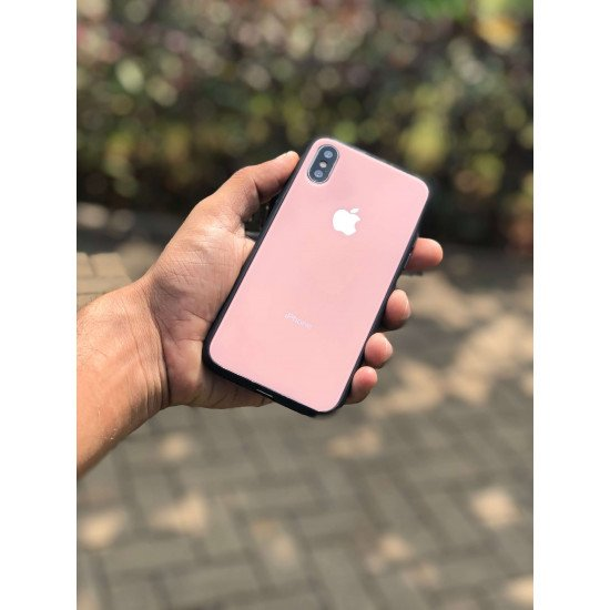 Pink Mirror Look Semi Soft Case For iPhone