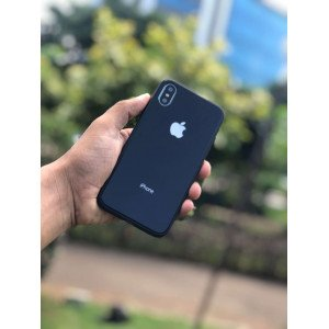Black Mirror Finish Semi Soft Case For iPhone