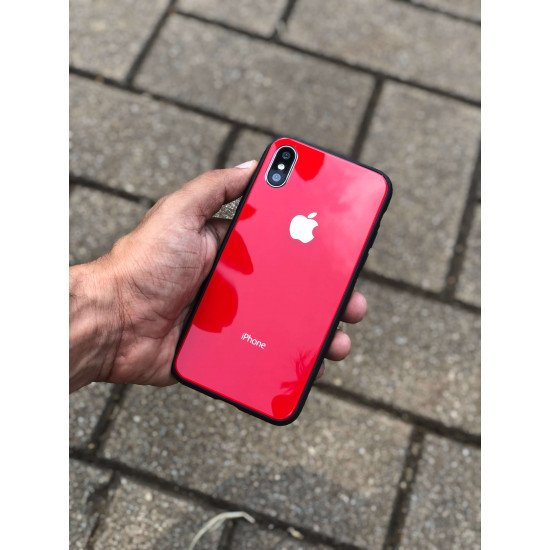Red Mirror Finish Semi Soft Case For iPhone