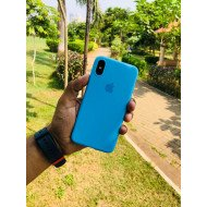 Striking Cyan Blue iPhone Soft Case