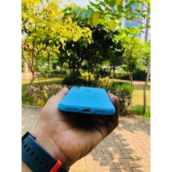 Striking Cyan Blue iPhone Soft Case
