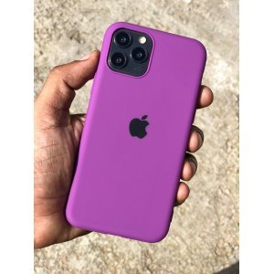 Purple Rubber Soft Case For iPhone