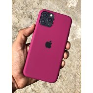 Magenta Rubber Soft Case For iPhone