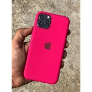 Hot Pink Rubber Soft Case For iPhone