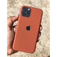 Brown Rubber Soft Case For iPhone