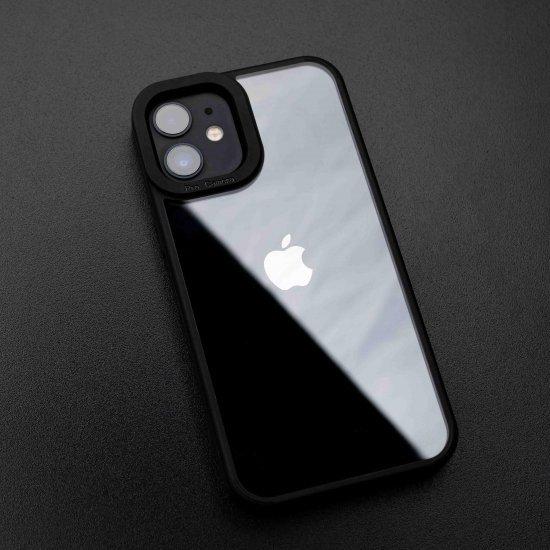 Camera Protection Shockproof Transparent Black Bumper case For iPhone