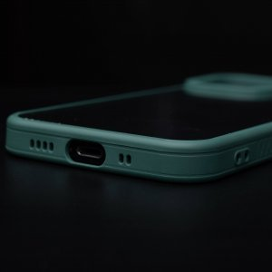 Camera Protection Shockproof Transparent Green Bumper case For iPhone