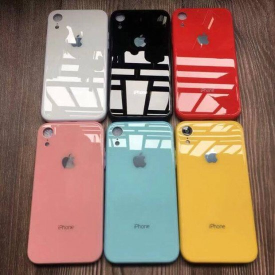 Lemon Yellow Mirror Finish Glass Case For IPhone
