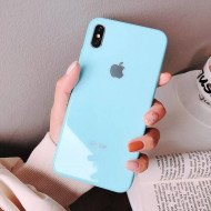 Maya Blue Mirror Finish Glass Case For IPhone