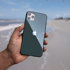 Hunter Green Glass Case For IPhone