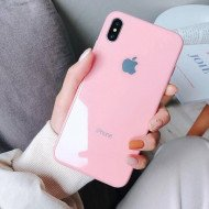 Pink Flamingo Mirror Finish Glass Case For IPhone