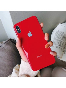Exotic Red Mirror Finish Glass Case For IPhone