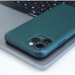 Pine Green Leather Case For iPhone