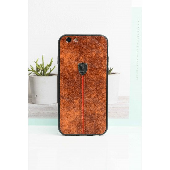 Light Brown Leather Finish Case For iPhone