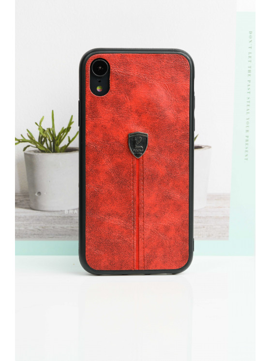 Red Leather Finish Case For iPhone
