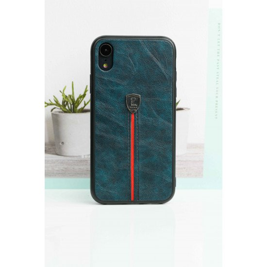 Bluish Green Leather Finish Case For iPhone