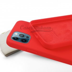 Red Silicone Case For iPhone 12 Series
