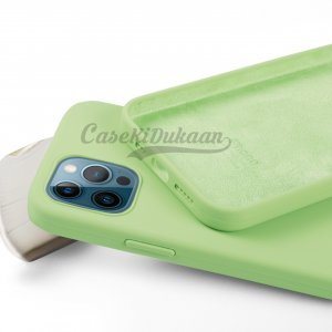 Mint Green Silicone Case For iPhone 12 Series